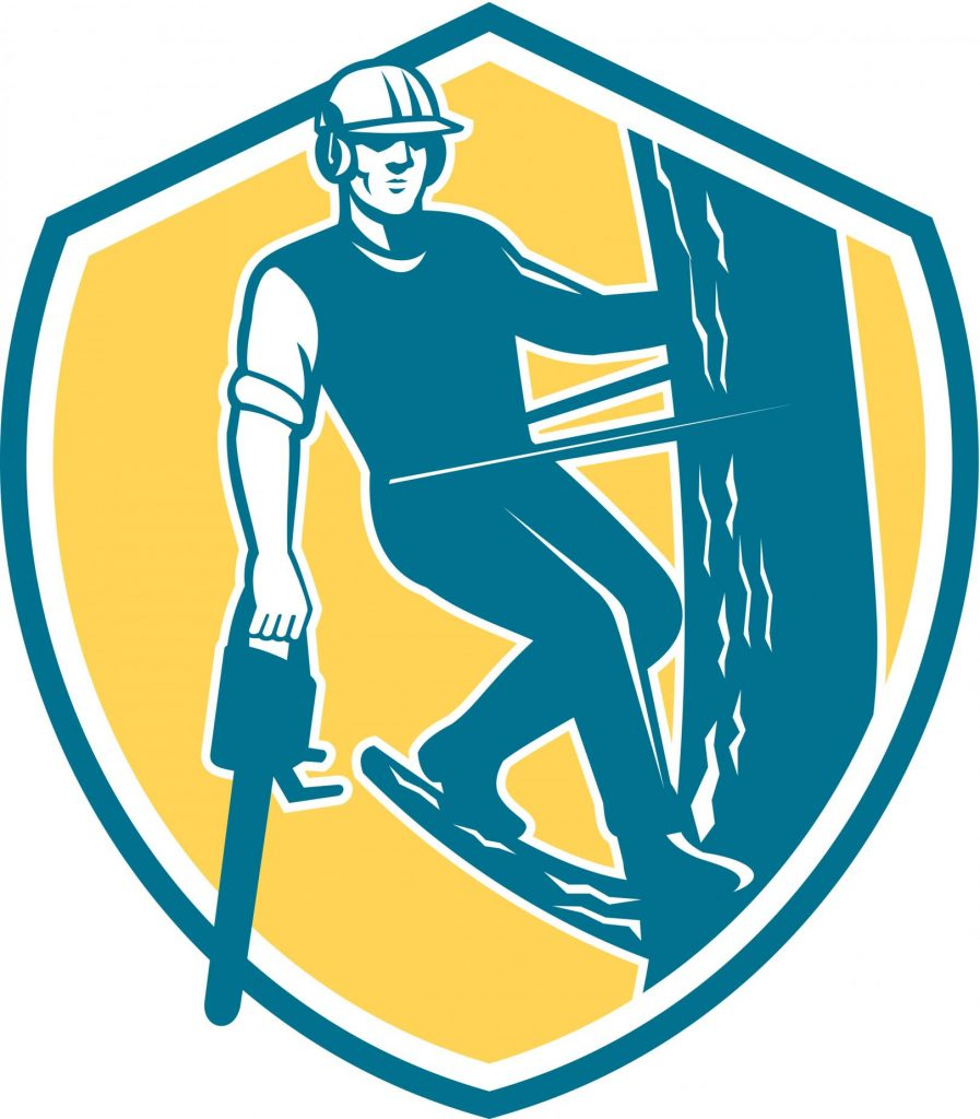 tree services worker logo